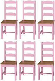 casa padrino landhausstil esszimmer stuhl set 48 x 41 x h 93 cm verschiedene farben massivholz küchen stühle 6er set esszimmer möbel im