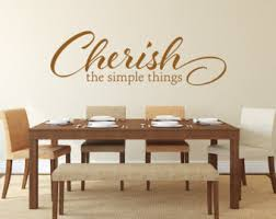 Cherish The Simple Things Decal Kitchen Decor