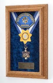 Single Medal Display Case Wood Awards