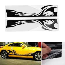210cm38cm Sports Stripe Pattern Style Car Stickers Vinyl Decal For