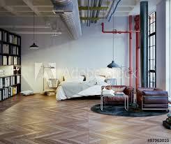 schlafzimmer in industrie loft bedroom in industrial