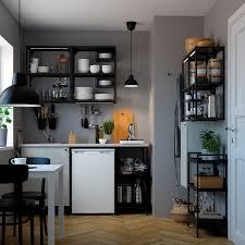 enhet küche anthrazit betonmuster 123x63 5x222 cm