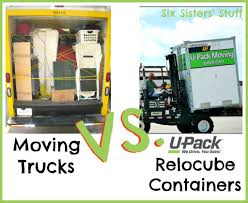 Moving Trucks Vs. U-Pack Relocube Containers | Six Sisters' Stuff