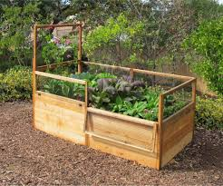 3x6 elevated raised bed with fencing raised bed gardens and