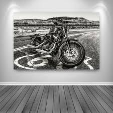 aludibond wandbild harley davidson kunstdruck abstrakt