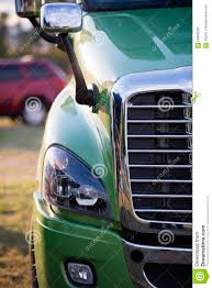 100 Semi Truck Mirrors Part Of Modern With Grille And Headlight Stock Photo