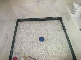 flooring bathroom ceramic tile installation i shaped white
