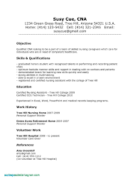 Sample Resume For Cna With No Previous Experience New Examples Restorative