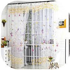 balock schuhe vorhang schmetterling muster transparenter tüll vorhang gardine tüll valance frischer stil transparent vorhänge für wohnzimmer