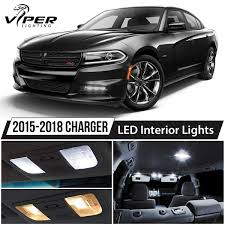 2015-2018 DODGE CHARGER White LED Interior Lights Kit Package ...