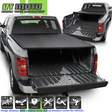 100 Chevy Silverado Truck Parts Soft Roll Up Tonneau Cover For 20072013 GMC Sierra
