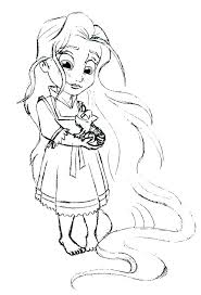 Princess Rapunzel Colouring Pages Color Tangled Coloring Baby