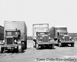 100 Trucks Paper Semi Lined Up 1935 Historic Photo Print EBay