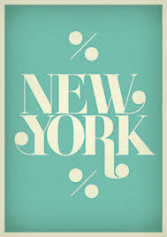 New York Typography Poster By Morten Iveland