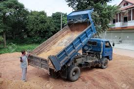 100 Dump Truck Drivers CHIANGMAI THAILAND AUGUST 16 2014 Driver Cleaning Stock