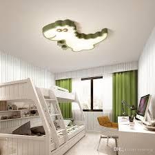 großhandel deckenleuchten für kinder schlafzimmer dinosaurier jungen mädchen deckenleuchte grün weiß moderne led deckenleuchten le für