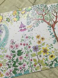 Secret Garden Coloring Book Background Passion For Pencils My