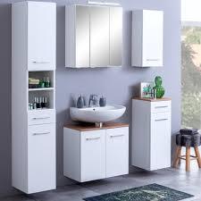 bad waschbeckenunterschrank 2 türig 60 cm breit weiß