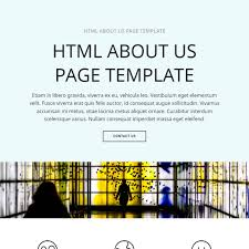 Free HTML Bootstrap About Us Page Template