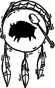 Native American Art Drum Coloring Page