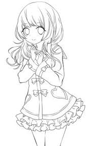 Cute Anime Girl Lineart By Chifuyu San On DeviantArt