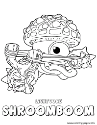 Skylanders Giants Life Lightcore Shroomboom Coloring Pages