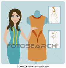 Stock Illustration Of Portrait A Female Fashion Designer
