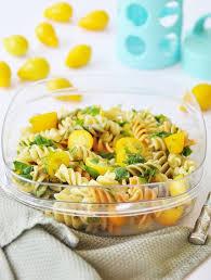 Back To School Lunch Idea Tri Colored Pasta Salad Vegan