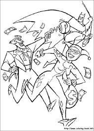 Joker Harley Quinn Batman 114 Coloring Picture