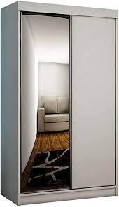 mirjan24 kleiderschrank toplo 100 ii elegantes schlafzimmerschrank spiegel 100 x 200 x 62 cm dielenschrank garderobenschrank schwebetürenschrank