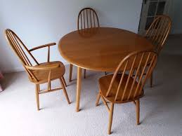 Vintage Priory Drop Leaf Dining Table With 4 Chairs (3 Chairs + 1 Carver) |  In Redditch, Worcestershire | Gumtree Realyn Ding Room Extension Table Ashley Fniture Homestore Gs Classic Oak Oval Pedestal With 21 Belmar New Pine Round Set Leaf 7piece And 6 Chairs Evelyn To Wonderful Piece Drop White Mahogany Heart Shield Back Details About 7pc Oval Dinette Ding Set Table W Extendable American Drew Cherry Grove 45th 7 Traditional 30 Pretty Farmhouse Black Design Ideas Kitchen
