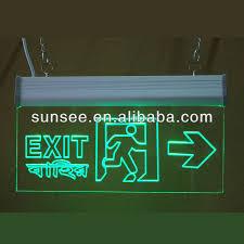 led illuminated exit sign acrylic sign for 110v 220v ledsign