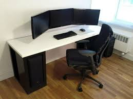 Dual Screen Standing Desk by Choosing The Right Gaming Pc Desk To Solve Your Seating Problems