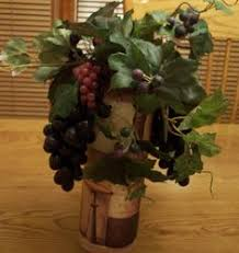 Kitchen Table Arrangement To Match My Winery Decor Added Lava Rock The