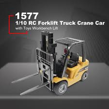 100 Toy Forklift Truck HUINA TOYS 1577 110 8CH Alloy RC Crane