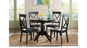 Sofia Vergara Dining Room Table by Brynwood Black 5 Pc Pedestal Dining Set Black Chairs Round