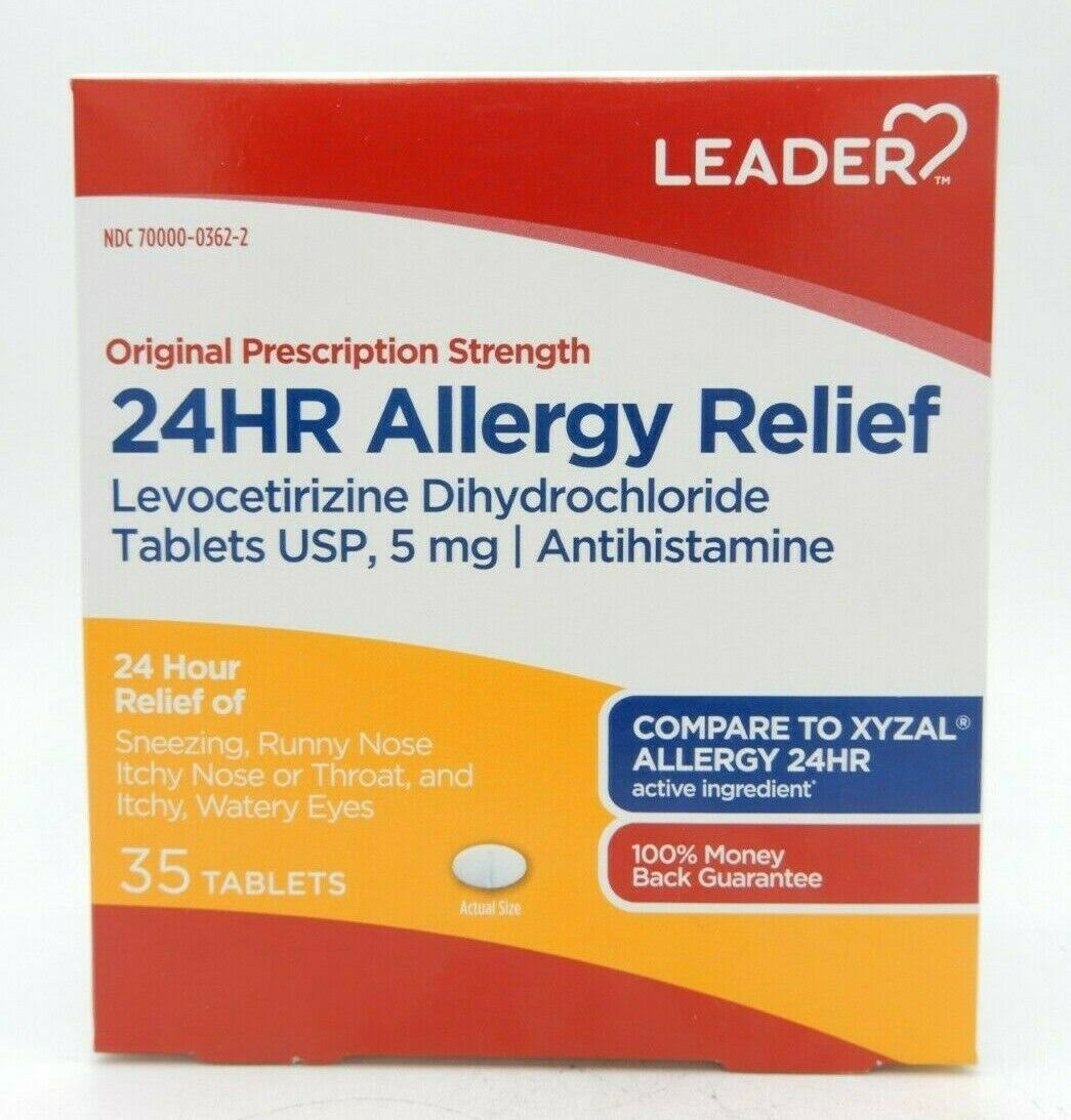 Leader 24HR Allergy Relief Tablets - 35ct