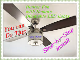 Hunter Contempo Ceiling Fan Manual by How To Install A Ceiling Fan With Remote Hunter 52