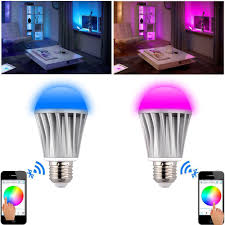 bluetooth e27 light bulb alarm smart led light bulb