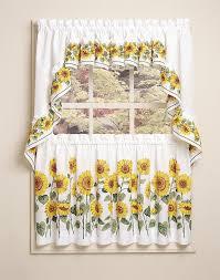 Charming Sunflower Kitchen Decor White Curtain Design IDeas Home Interiors