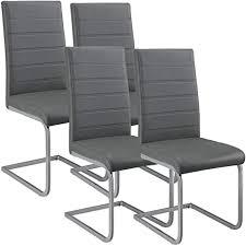 artlife freischwinger stuhl vegas 4er set kunstleder bezug metall gestell 120 kg belastbar grau esszimmerstühle schwingstühle