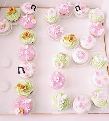 Beautiful Floral Cupcakes For 18th Birthday Planary