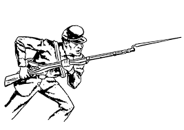 Bayonet Army Coloring Pages
