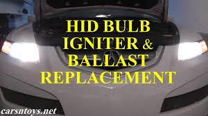 hid headlight bulb igniter wire and ballast replacement with