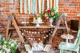 Table Decorations Ideas In Rustic Style A Dessert Buffet