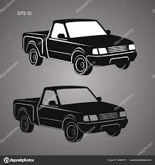 100 Small Pickup Truck Modern Small Pickup Truck Vector Illustration Icon Stock Vector