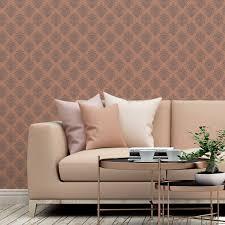 my castle ornamenttapete damast muster in braun design tapete für wohnzimmer