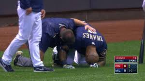 Eric Thames' Injury Caps Bad Day For Brewers | MLB.com