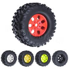 100 Rims Truck Hot Sale 4pcs RC 17mm Hex Tires Wheel 170x85mm Foam Inserts