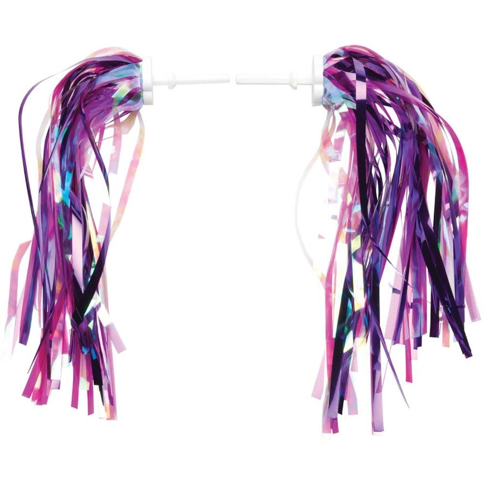 Dimension Kid's Bike Streamers - Pink and Purple, Pair